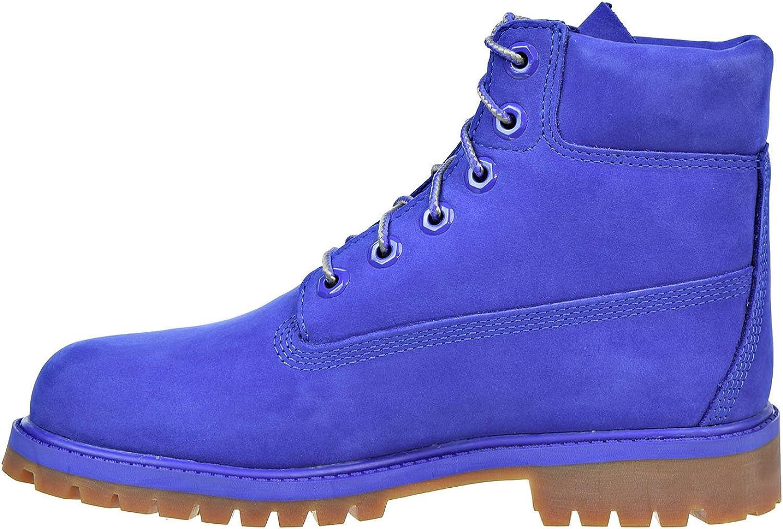 Timberland 6 Inch Premium Waterproof Big Kids Blue Boots tb0a1p6h