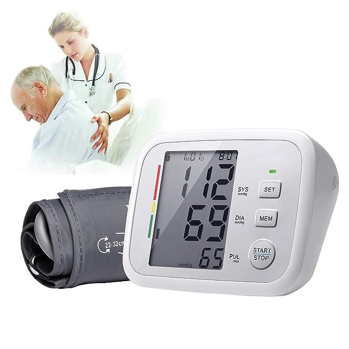 Esfigmomanómetro Digital, Kapmore Monitor de Presión Arterial Brazo Para Uso en El Hogar Con Manguito Grande, Máquina de Presión Arterial: Amazon.es: ...
