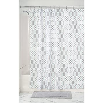 mint and grey shower curtain. interdesign lattice soft fabric shower curtain, 72\u0026quot; x 72\u0026quot;, mint/ gray mint and grey curtain e