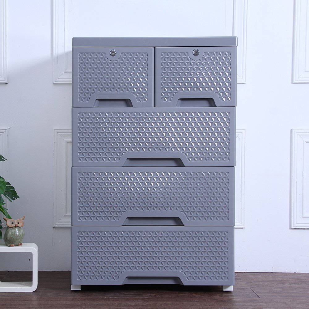 Movable Storage Cabinet,Multipurpose Furniture Organizer,Nafenai Home Bedroom Office 4-layers Storage Cart with 2 Cabinets ,Durable and Environmental-friendly by Nafenai (Image #5)