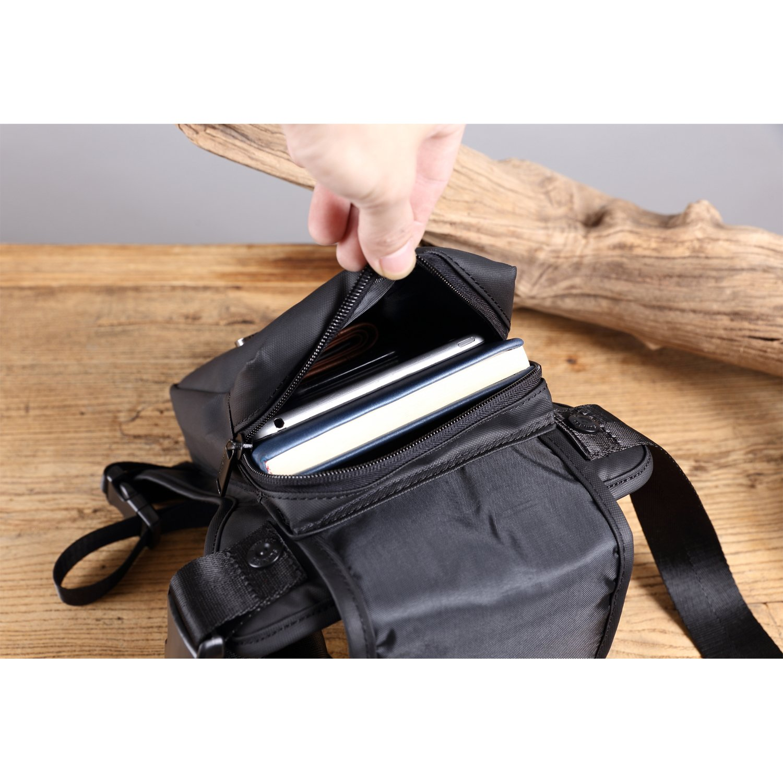 b06dd79e2 Descripción del producto. Bolso de Cintura Hombre Riñonera Deporte Bolsa de  Pierna Gimnasio Bolsos Outdoor Sport Bag ...