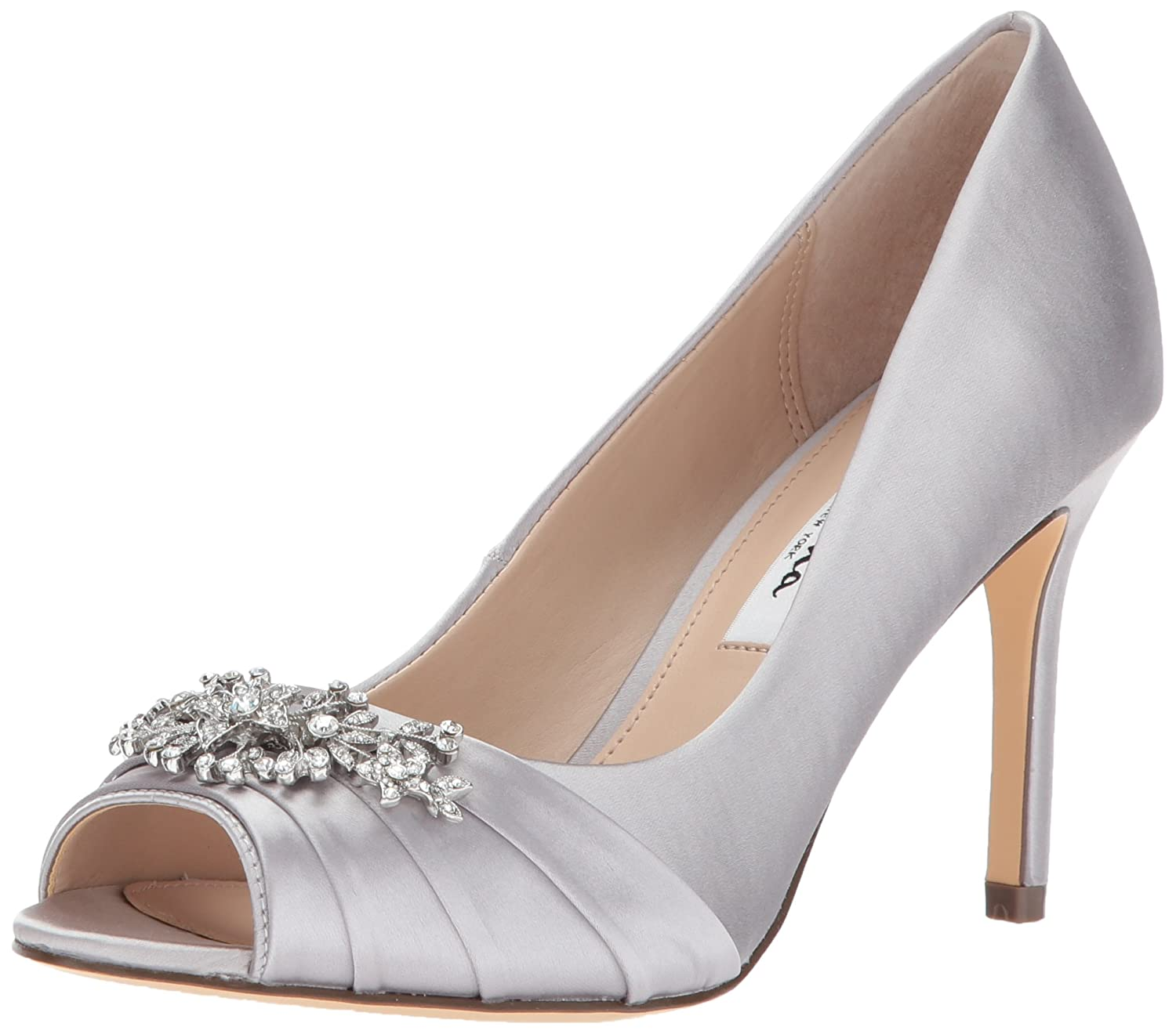 Nina Women's Rumina Dress Pump B0714BTW2L 8.5 B(M) US|Ys-silver