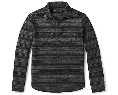de0294a86d SmartWool Men s Anchor Line Stripe Shirt Jacket at Amazon Men s ...