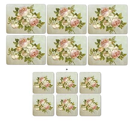 Pimpernel Antique Rose Placemats Large Set Of 4
