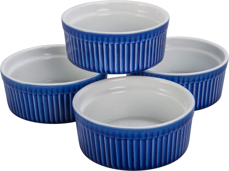 Bia Cordon Bleu Inc 900013 10 Ounce White Porcelain Individual Souffle Bowl = Set of 4