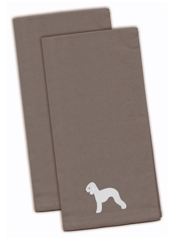 Multicolor Set of 2 28 H x 19 W Carolines Treasures BB3429BKTWE Australian Kelpie Dog Black Embroidered Kitchen Towel