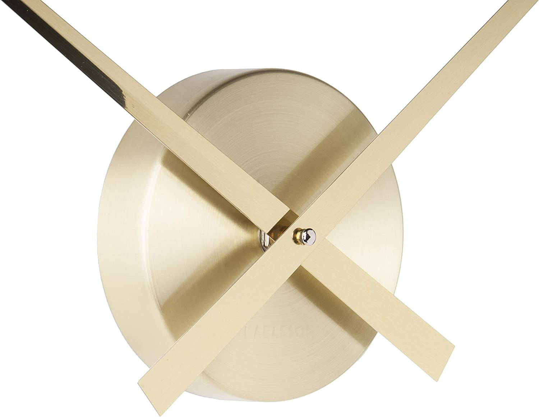 Karlsson Little Big Time Clock Aluminum Wall Clock Gold Black or Copper