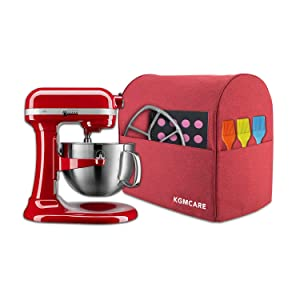 KGMcare Stand Mixer Cover, Dust Cover Compatible with Quart KitchenAid Stand Mixer, Kitchen Small Appliance and Extra Accessories Protector Shield (Red, Fits for All 6-8 Quart)
