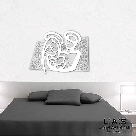 Capezzale Letto.Las Laser Art Style Quadro Capezzale Sacra Famiglia Moderno Per