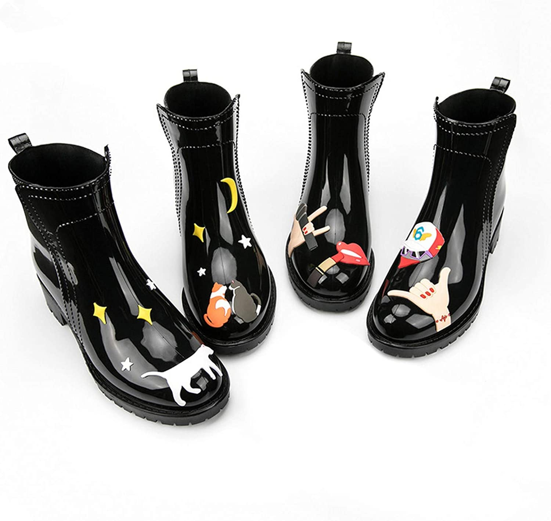 Cat Rain Boots Women PVC Slip