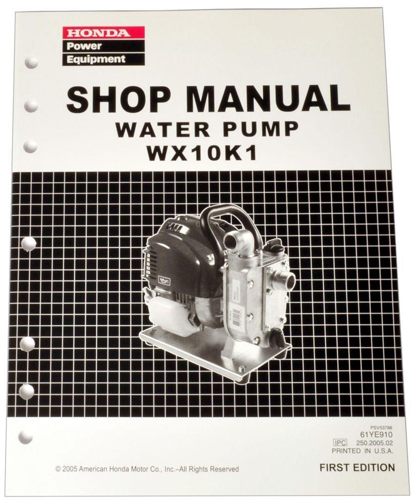 Honda WX10 K1 Pump Service Repair Shop Manual