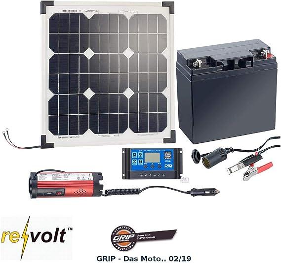 Garten Wandler 12V 220V Camping Mobile Solaranlage 20W komplett mit Batterie