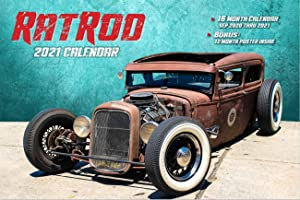 2021 Rat RODS Deluxe Wall Calendar 16 Months w/Free Poster