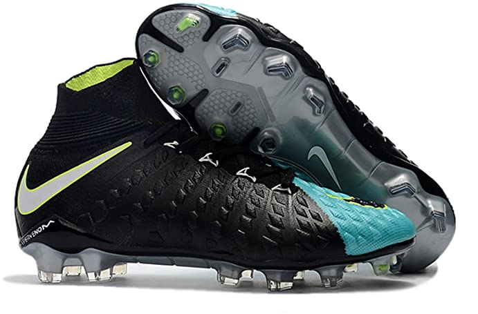 14bc8ca6f ... football boots 22b96 74a62 official store mens high ankle soccer cleats nike  hypervenom phantom iii df fg black turquoise blue ...