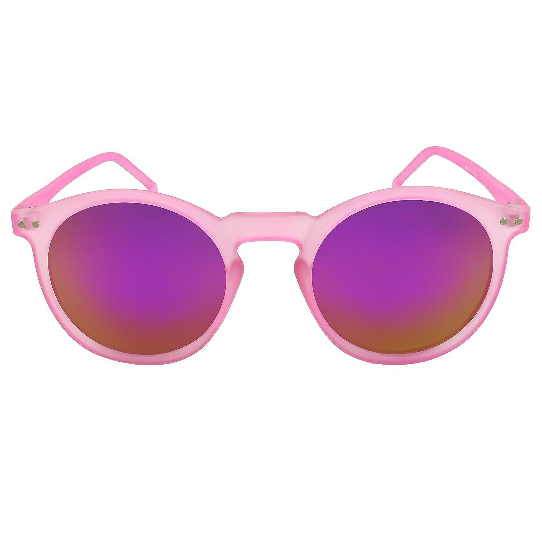 MLC EYEWEAR /® Iridescent Round Fashion Sunglasses in Pink purple