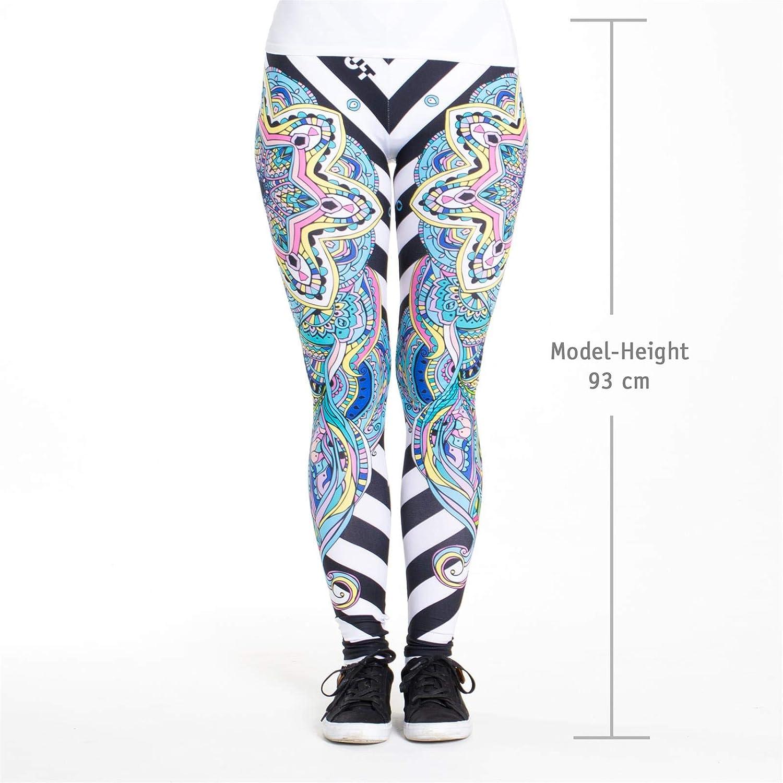 Taglia Unica Leggings Colorati Stampati cosey