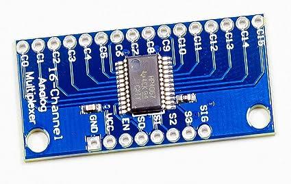 Cd74hc4067 16 canaux analogique digital multiplexeurs Board
