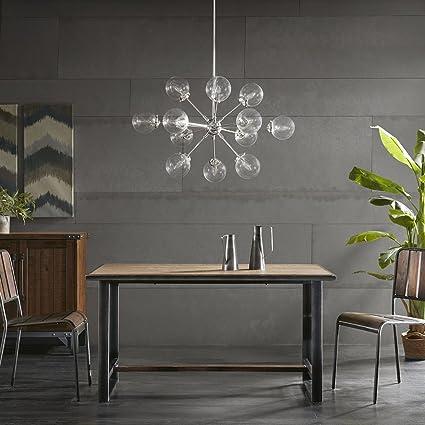 Ink Ivy 12 Lights Oversized Bulb Sputnik Chandelier Silver Finish Modern Dining Room Pendant Lighting Ul Certified