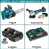 Makita XCU02PTX1 Lithium-Ion Cordless Chain Saw Kit and Angle Grinder