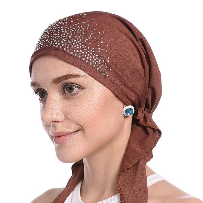 Ishine Kopftuch Damen Chemo Turban Frau Elastische Hijab