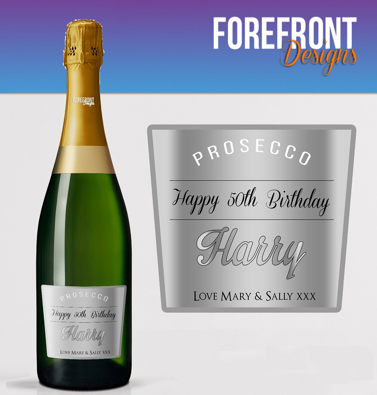 Personalised Prosecco bottle label Christmas// XMAS GIFT// Any occasion