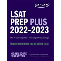 LSAT Prep Plus 2022: Strategies for Every Section + Real LSAT Questions + Online (Kaplan Test Prep)