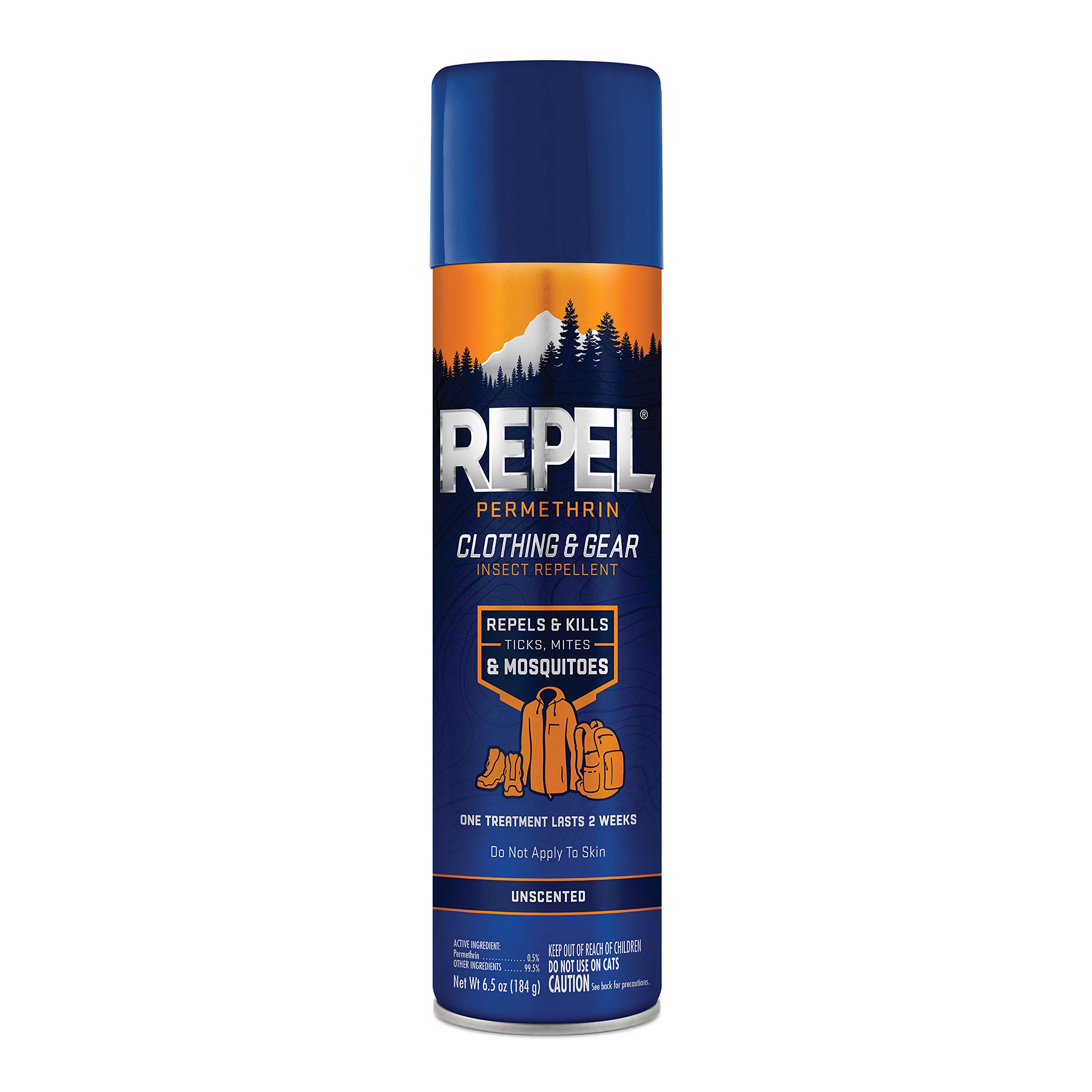 Repel Permethrin Clothing & Gear Insect Repellent, Aerosol, 6.5-Ounce, 6-Pack by Repel