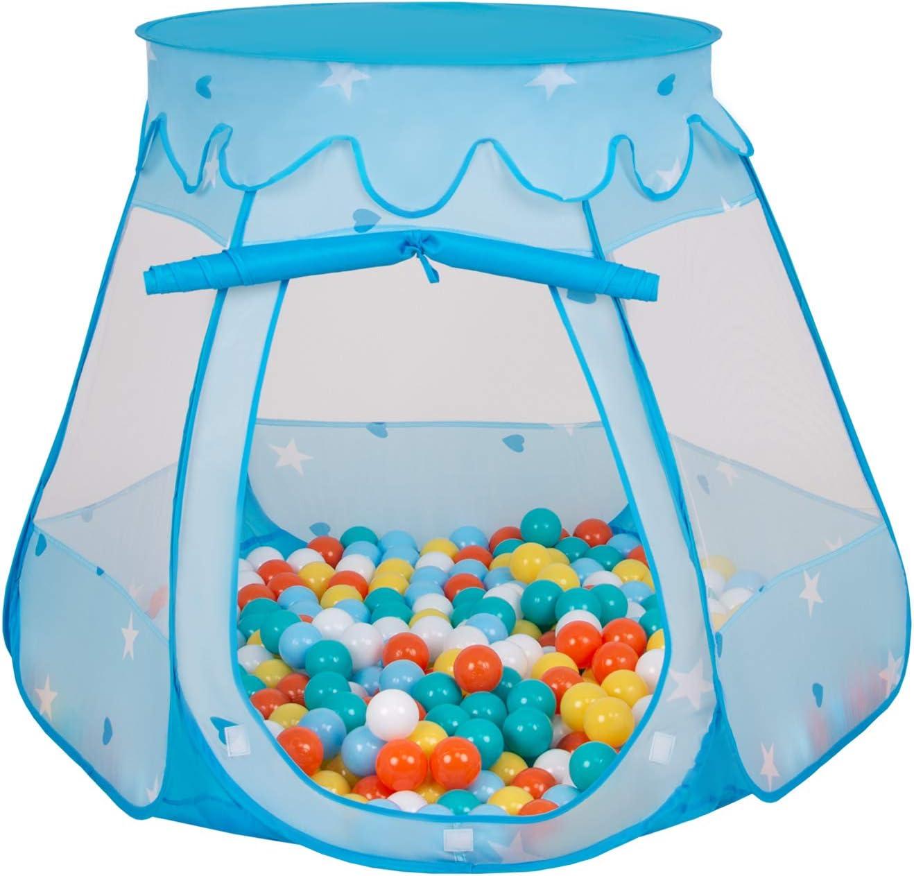 Rose Selonis Tente 105X90cm//SANS Balles Ch/âteau avec Les Balles Plastiques Piscine /À Balles pour Enfants Gris-Blanc-Rose