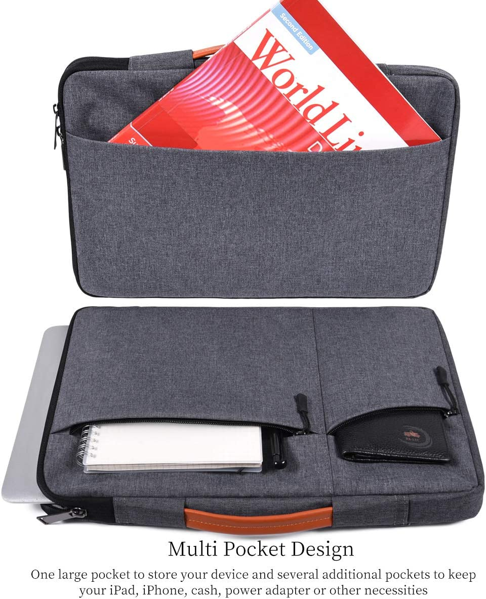 Lenovo Asus HP Chromebook Carrying Bag,Gray Samsung Chromebook 3 Dell XPS 13 11 12.9 Inch Waterproof Laptop Case Sleeve Briefcase with Handle Handbag for Acer R11 11.6 Chromebook HP Envy X360 11.6