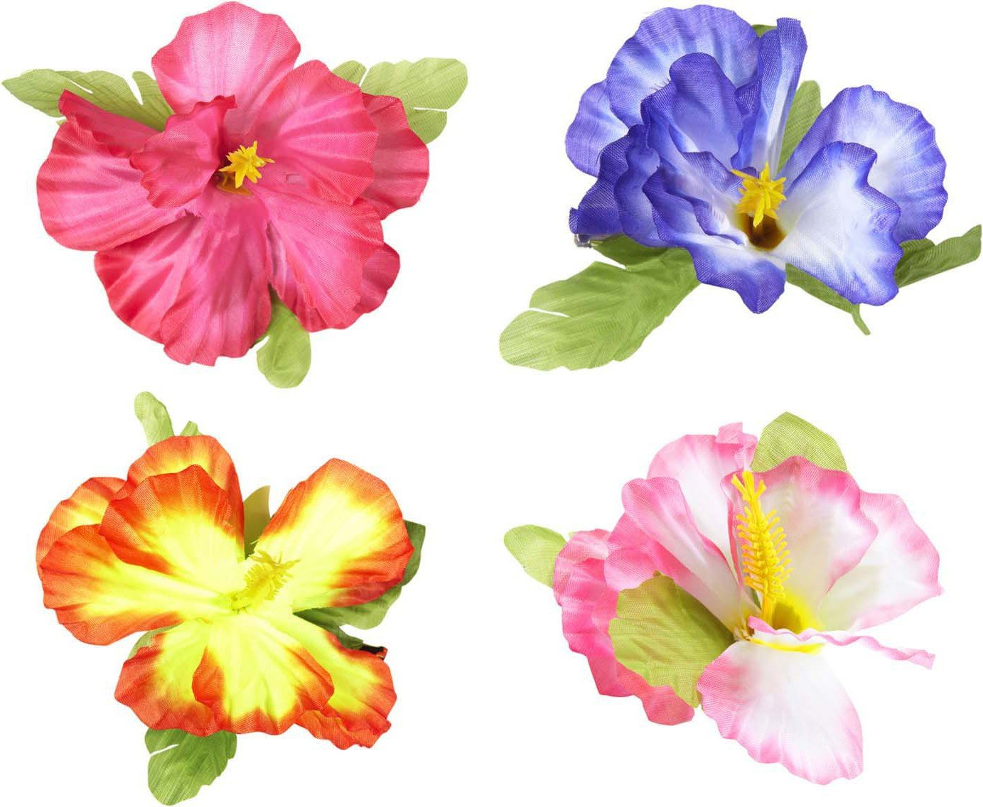 Hibiscus Flower Hair Clips 4 Colors Ass Accessory For Tropical