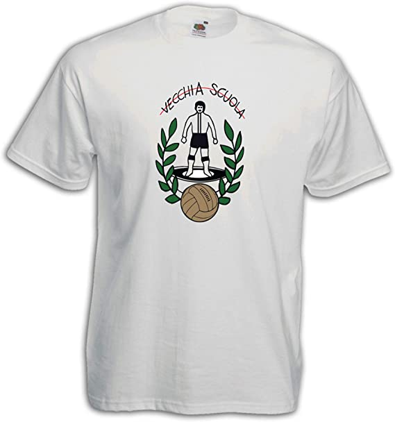Settantallora – Camiseta J3328 Fútbol Antigua Escuela Blanconeri Ultras: Amazon.es: Ropa y accesorios