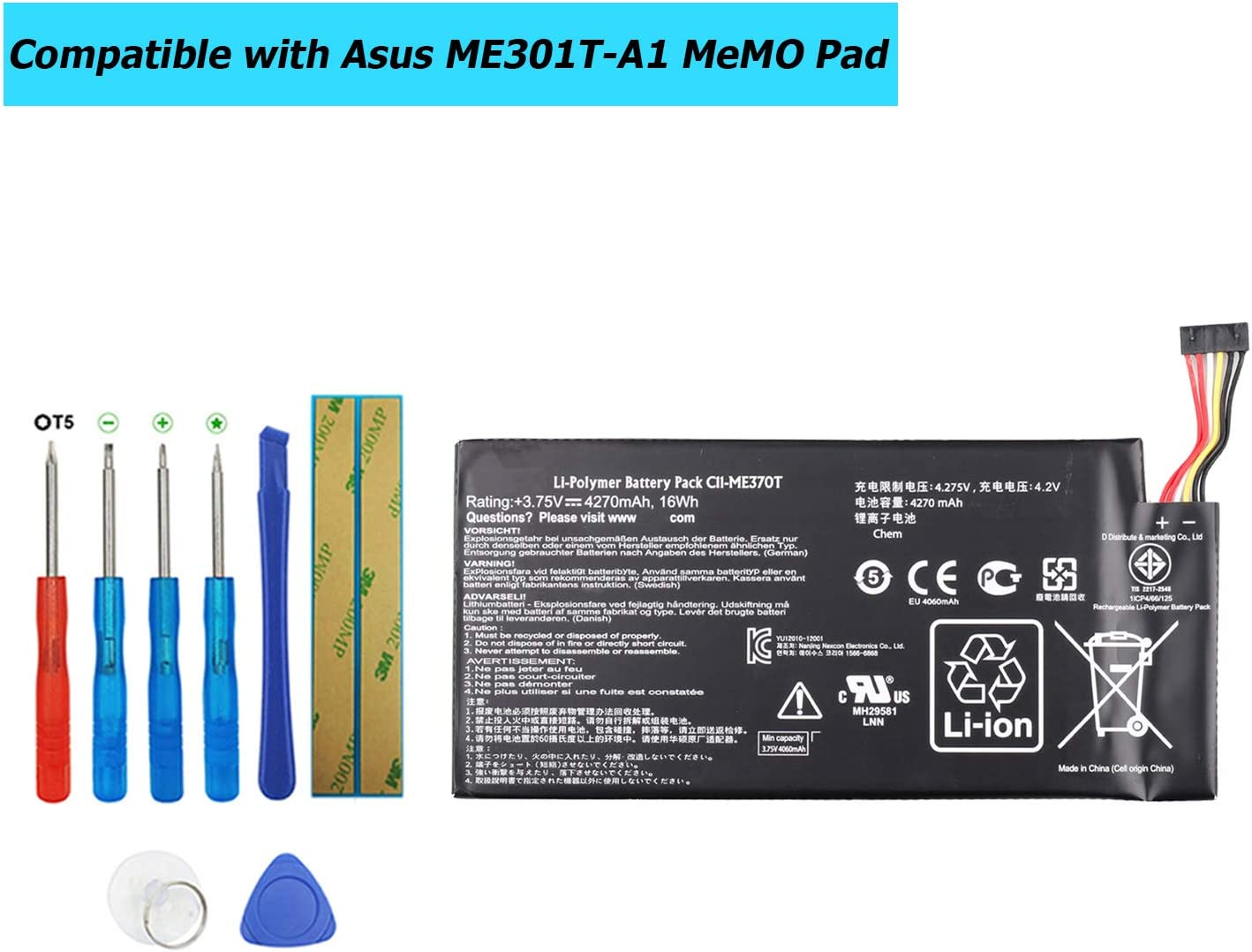 Bateria Para Asus Me301t-a1 Me370t Google Nexus 7 (2012)