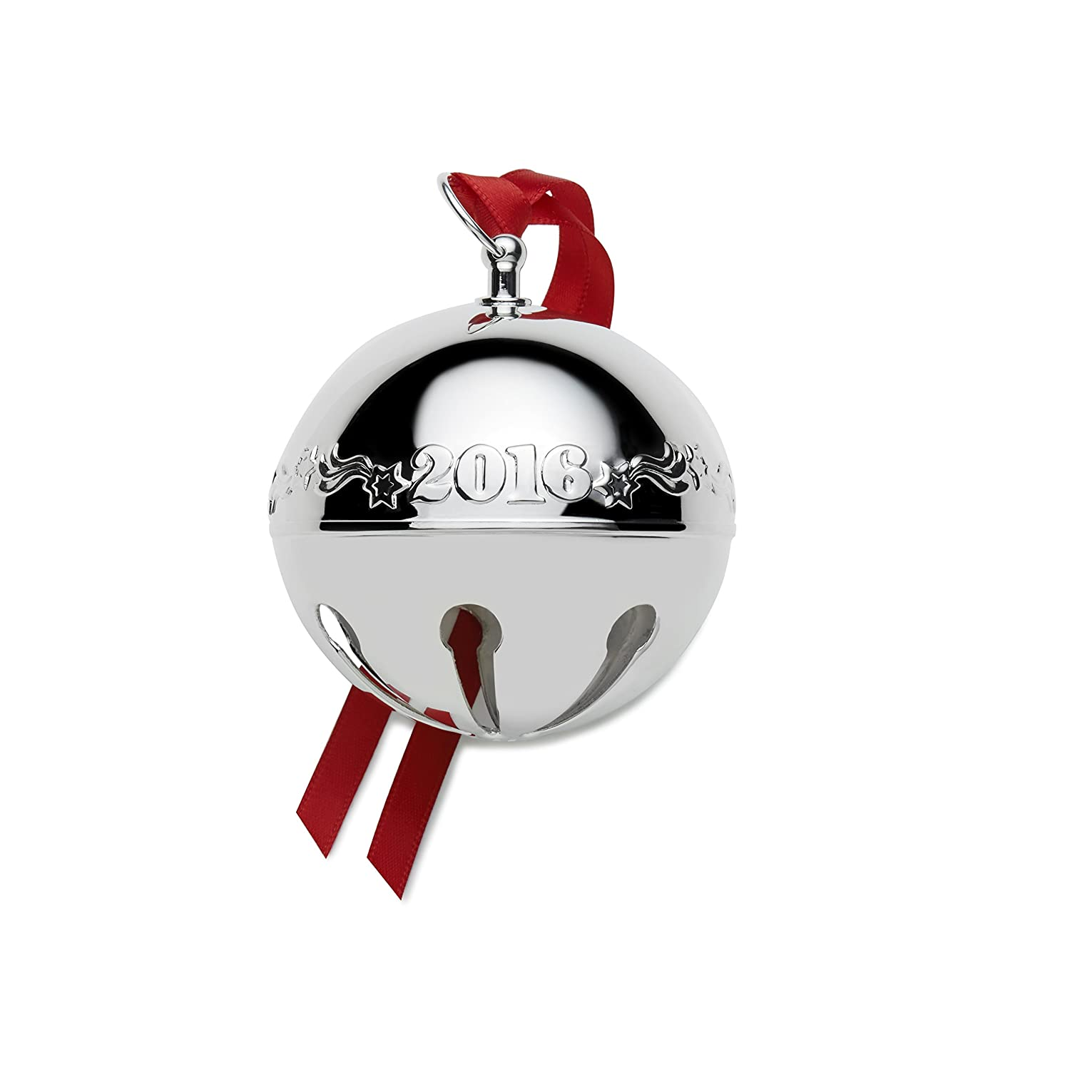 Amazon: Wallace 2016 Silver Plated Sleigh Bell Ornament, 46th Edition:  Home & Kitchen