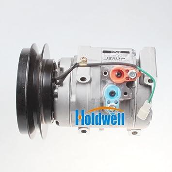 Holdwell aire acondicionado Compresor 20y-810 - 1260 para Komatsu PC200 - 8 PC220 - 8: Amazon.es: Coche y moto