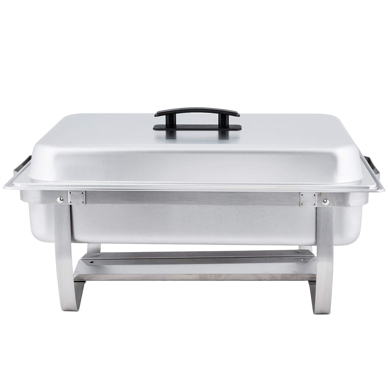 Empura 8 Qt Stainless Steel Chafer 3 Pack Full Size Chafer Winco
