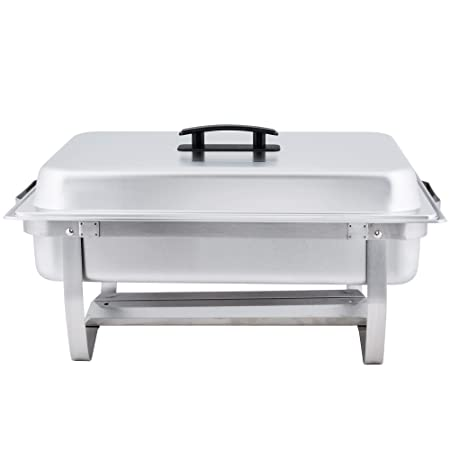 Winco Empura 8 Qt Stainless Steel Chafer, Full Size Chafer – 2 Pack
