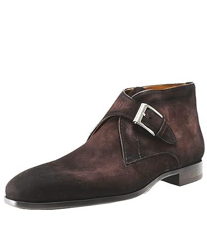 Magnanni Men S Suede Monk Strap Boots Uk 11 Dark Brown Amazon Co Uk