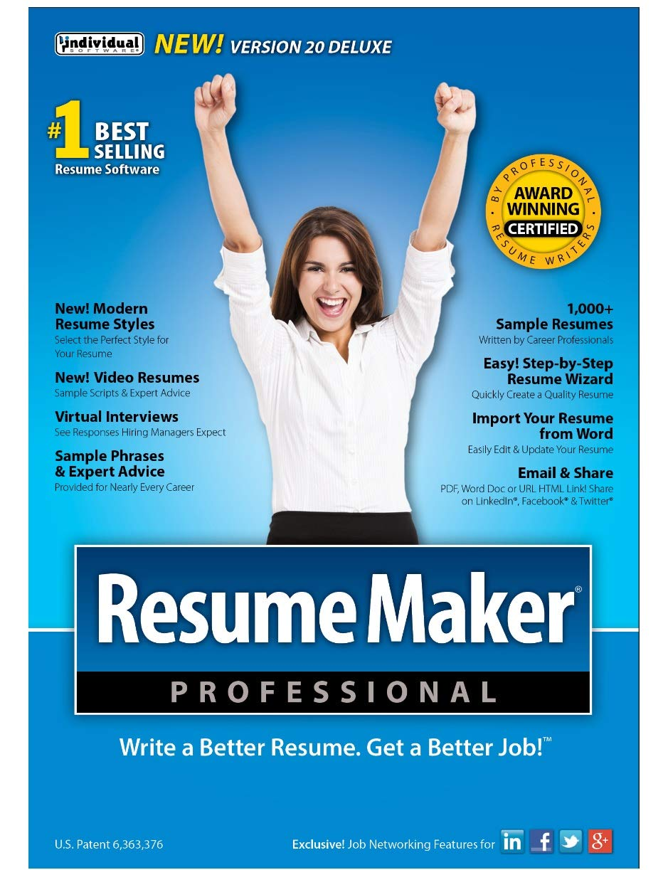 ResumeMaker Professional Deluxe 20 [PC Download] by Individual Software