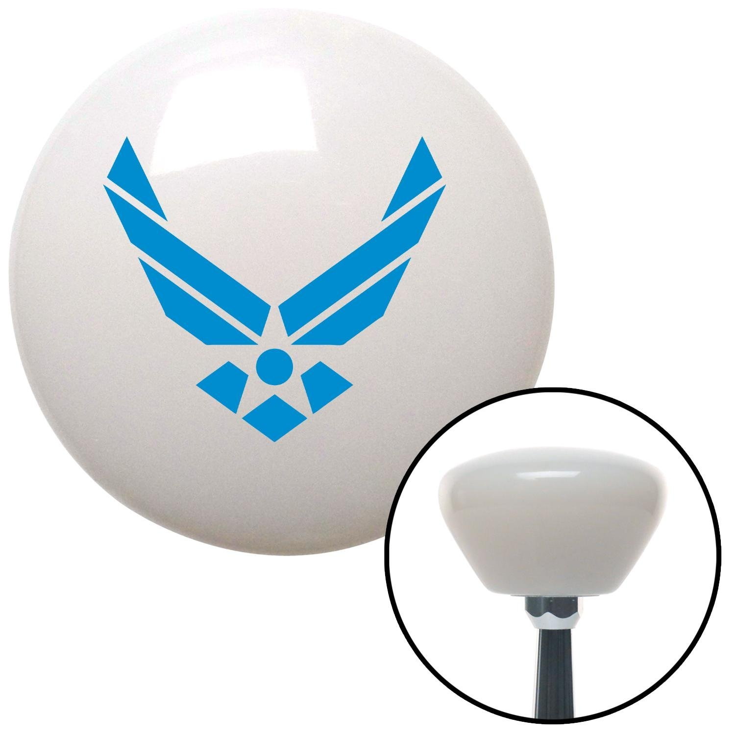 Blue The Air Force Symbol American Shifter 154467 White Retro Shift Knob with M16 x 1.5 Insert