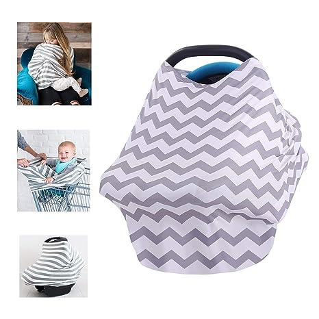 Multiusos orgánico algodón enfermería lactancia materna, Baby Set de coche para toldo carrito de la compra cubierta Swaddle Manta para bebés recién ...