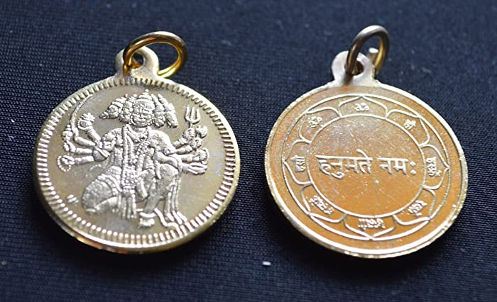 Amazon sri panchmukhi shree panch mukhi hanuman yantra kavach sri panchmukhi shree panch mukhi hanuman yantra kavach pendant beautifully engraved gold plated amulet mozeypictures Image collections