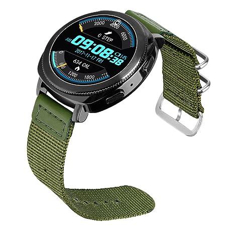 BarRan® - Correa de nailon de repuesto para reloj Gear S2 ...
