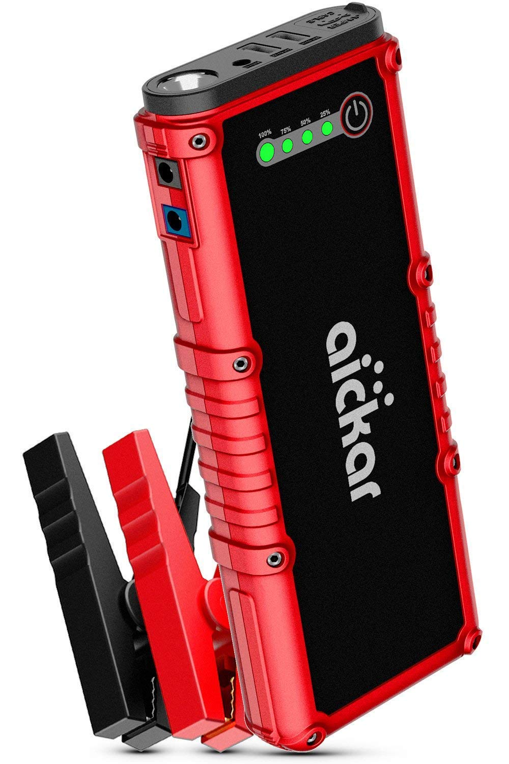 Built-in LED Flashlight with Car Jumper Cables Heavy Duty Up to 8.0L Gas /& 6.0L Diesel Engine 1200A Peak 19800mAh 12V Auto Battery Booster aickar Car Jump Starter Portable Battery Power Bank