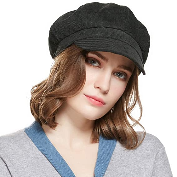 fb5951aec1e11 WELROG Corduroy Newsboy Hat Women Adjustable Octagonal Cap Visor Fall Beret  Cap  Amazon.ca  Clothing   Accessories