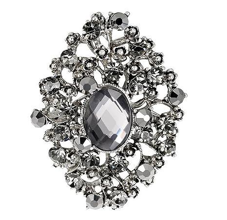 Cosanter nueva moda salvaje exquisita broche de diamantes de imitación chapado en plata antigua broche de