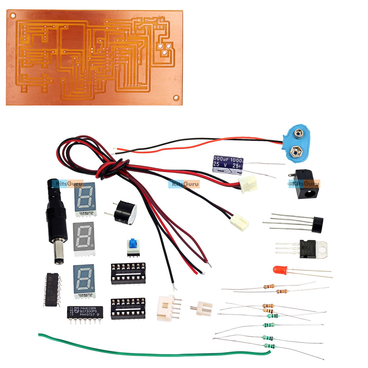 Kitsguru Diy Kit Water Level Indicator Using 7 Segment Display Circuit Today Electronics Mini Projects Diagram Ask Home Lgkt007