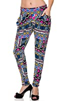 2LUV Women's Sassy Printed Harem Pants with Pockets