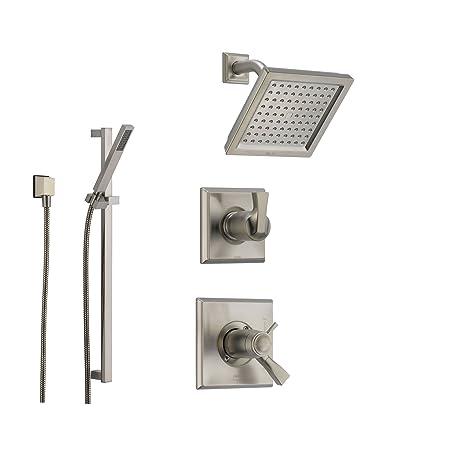 Amazon.com: Delta Dryden sistema de ducha con termostático ...