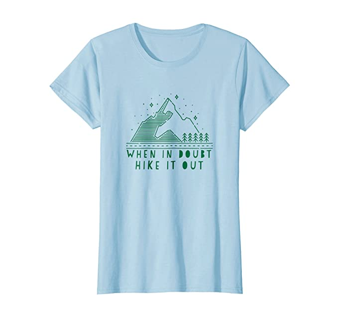 d2013f13c Amazon.com: Womens When In Doubt Hike It Out T-Shirt Retro Trail ...