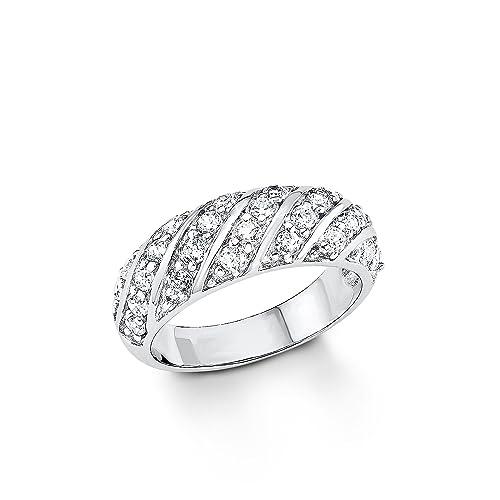 3f531da331e4 s.Oliver Jewel Damen-Ring 925 Silber rhodiniert Zirkonia weiß 5077 6  Amazon .de  Schmuck
